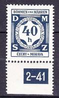 Boheme Et Moravie 1941 Mi D 2 (Yv TS 2), (MNH)** - Bohemia & Moravia