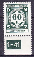 Boheme Et Moravie 1941 Mi D 4 (Yv TS 4), (MNH)** - Bohemia & Moravia