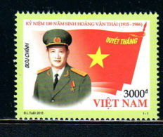 Vietnam Viet Nam MNH Stamp 2015 : 100th Birth Anniversary Of General Hoang Van Thai (Ms1055) - Vietnam