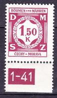 Boheme Et Moravie 1941 Mi D 8 (Yv TS 8), (MNH)** - Bohemia & Moravia