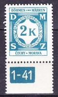 Boheme Et Moravie 1941 Mi D 9 (Yv TS 9), (MNH)** - Bohemia & Moravia