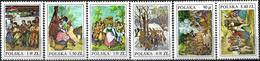 1977 - FOLK COSTUMES 19th CENTURY WOOD ENGRAVINGS - Michel 2509-2514 = 0.70 € - 1944-.... Republic