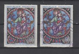 France  1964  N° 1419  Neuf X X & Obl   Notre Dame De Paris  Vitrail - Unused Stamps