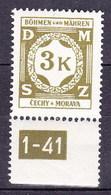 Boheme Et Moravie 1941 Mi D10 (Yv TS 10), (MNH)** - Bohême & Moravie