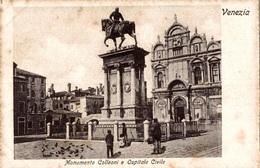 CPSM Venezia Monumento Colleoni E Ospitale Civile - Animée - Venezia (Venice)