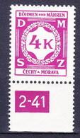 Boheme Et Moravie 1941 Mi D11 (Yv TS 11), (MNH)** - Bohême & Moravie