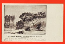 X85098 Rare SAINT HILAIRE De RIEZ Vendée Militaire Croix Lieu Tué Marquis LA ROCHEJAQUELEIN MATHES 1815 Général Vendéen - Saint Hilaire De Riez