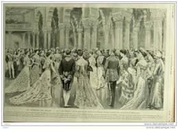 Le Durbar De Delhi - Le Bal De L´État Au Dewan-I-Khass, Ancien Palais Des Mongols - Page Original  1903 - Documentos Históricos