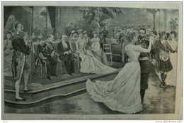 Le Président De La République á Londres - Bal De Cour Au Palais De Buckingham - Page Original - 1903 - Documentos Históricos