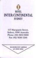 AUSTRALIA KEY HOTEL InterContinental Sydney - Chiavi Elettroniche Di Alberghi
