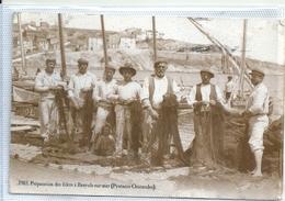 PYRENEES ORIENTALES - 66 - BANUYLS SUR MER - CPSM GF Sépia - Reproduction - Préparation Des Filets - Banyuls Sur Mer