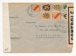 ALLEMAGNE Zone Occupation Française 1947 - Lettre Avec Censure Militaire WEINGARTEN (Wurtemberg) Pour LUXEMBOURG - Zone Française