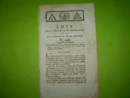 Lois An III:Suppression Commission Des Armes & Poudres.Port De Toulon Livré Aux Anglais.Armée Alpes.Certif Pont L'Evêque - Gesetze & Erlasse
