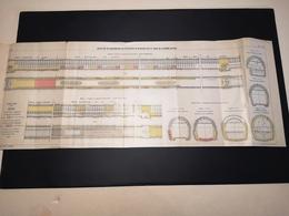 ANNALES DES PONTS Et CHAUSSEES (Dep 51) - Plan De Réfection De Maçonneries Soutterraines  - Imp A.Gentil 1912 (CLF26) - Zeekaarten