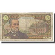 France, 5 Francs, Pasteur, 1966, R.Tondu-P.Gargam-H.Morant, 1966-11-04, TTB - 1962-1997 ''Francs''