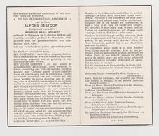 DOODSPRENTJE DESTOOP ALFONS ECHTGENOOT ISEBAERT WAREGEM TIELT (1868 - 1956) - Images Religieuses