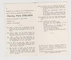 DOODSPRENTJE DEBLAERE MARTINA ECHTGENOTE VAN DAMME GRAMMENE (1896 - 1964) - Images Religieuses