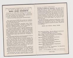 DOODSPRENTJE VERSCHAETSE MARIA ECHTGENOTE VAN CALLIE AARSELE (1886 - 1958) - Images Religieuses