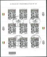 Italia 2015 Juventus Campione Minifoglio Annullo 1°giorno - Blocs-feuillets