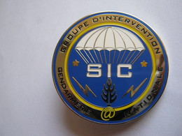 INSIGNE  GENDARMERIE NATIONALE GIGN BREVET SIC ETAT EXCELLENT - Polizia