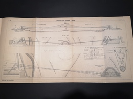 ANNALES DES PONTS Et CHAUSSEES (Dep 42) - Plan De Conduite D'Eau Suspendue à Feurs  - Imp A.Gentil 1912 (CLF29) - Zeekaarten