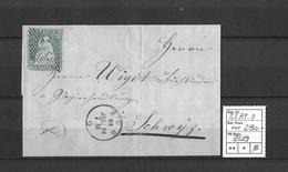 1854-1862 Helvetia (Ungezähnt) Strubel → Zarte Raute, Fingerhutstempel ZUG ►SBK-23B1.II◄ - 1854-1862 Helvetia (Non-dentelés)