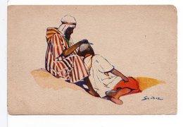 CPA - CIRCUITS NORD-AFRICAINS - LE BARBIER (SANDOZ) - Illustrators & Photographers