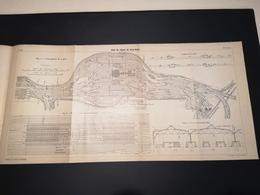 ANNALES DES PONTS Et CHAUSSEES (Allemagne) - Plan De La Gare De Triage De Kalk-Nord  - Imp A.Gentil 1912 (CLF30) - Máquinas