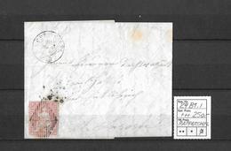 1854-1862 Helvetia (Ungezähnt) Strubel → Raute, Rundstempel RAPPERSWYL  ►SBK-24B1.I◄ - Covers & Documents