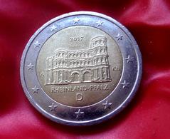 Germany 2 Euro 2017 Rheinland-Pfalz Porta Nigra -  A -  Coin  CIRCULATED - Allemagne