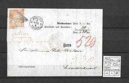 1854-1862 Helvetia (Ungezähnt) Strubel → Eidg.Raute, Fingerhutst. ZÜRICH ►SBK-25B1m.II/III ATTEST◄ - Lettres & Documents