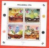 New Caledonia 1994. Block.Unused Stamps. - Food