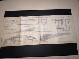 ANNALES DES PONTS Et CHAUSSEES (Dep 59) - Plan Du Pont Candelier Sur La Sambre - Imp A.Gentil 1923 (CLF32) - Travaux Publics