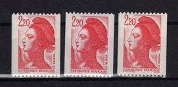 FRANCE Liberté Yv 2379 2379a 2379b MNH ** - 1982-90 Liberty Of Gandon