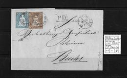 1854-1862 Helvetia (Ungezähnt) Strubel → PD Im Kasten, Rundstempel ST.GALLEN ►SBK-23Bç.Vb/22B4.V◄ - Briefe U. Dokumente
