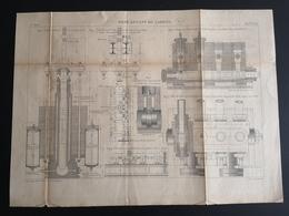 ANNALES DES PONTS Et CHAUSSEES (Dep 21) - Plan Du Pont Levant De Larrey - Graveur Macquet - 1893 (CLF33) - Travaux Publics