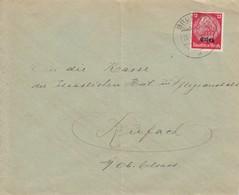Env Affr Miche Elsass 7 Obl BRUMATH Du 28.11.40 Adressée à Rufach - Postmark Collection (Covers)