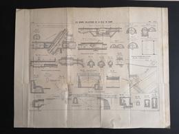 ANNALES PONTS Et CHAUSSEES (Dep 21) - Plan Des Grands Collecteurs De La Ville De Dijon - Imp L.Courtier - 1900 (CLF34) - Nautical Charts