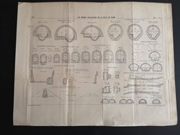 ANNALES PONTS Et CHAUSSEES (Dep 21) - Plan Des Grands Collecteurs De La Ville De Dijon - Imp L.Courtier - 1900 (CLF35) - Zeekaarten