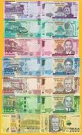 Malawi Set 20 50 100 200 500 1000 2000 Kwacha 2014-2018 UNC Banknotes - Malawi