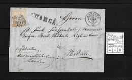 1854-1862 Helvetia (Ungezähnt) Strubel → CHARGÉ, Rauten- Und Rundstempel AARBERG ►SBK-25B1m.II/III◄ - 1854-1862 Helvetia (Non-dentelés)