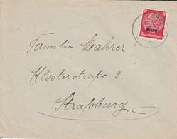 Env Affr Miche Elsass 7 Obl BRUMATH Du 06.1.41 Adressée à STRAßBURG - Postmark Collection (Covers)