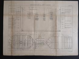 ANNALES PONTS Et CHAUSSEES (Dep 21) - Plan Du Grand Pont Sur La Saône à Charrey - Graveur Macquet - 1893 (CLF37) - Public Works