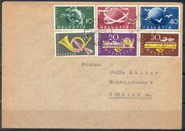 LIQUIDATION TOTALE : 1949 - SUPERBELETTRE Avec TRES BEL AFFRANCHISSEMENT - 2 SERIES COMPLETES - Suisse