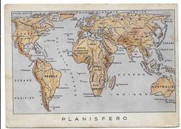 Cartolina In Franchigia - Planisfero. XXVI Battaglione M.S. Comando. - Guerra 1939-45
