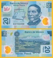 Mexico 20 Pesos P-122 2013 (Serie W) UNC Polymer Banknote - México