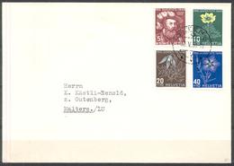LIQUIDATION TOTALE :1949 - TRES BELLE LETTRE Avec TRES BEL AFFRANCHISSEMENT - SERIE COMPLETE - Suisse