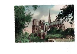 Cpm - 75 - PARIS - NOTRE DAME - Vue Du Sud-est - Leconte 4.263 - Travaux échafaudage - Années 1950 - Notre Dame De Paris