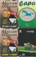 SWITZERLAND - PHONE CARD - TAXCARD SUISSE ***   PRÉPAID  - 4 X ANIMAUX  DIVERS / 3  *** - Jungle