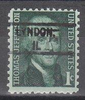 USA Precancel Vorausentwertung Preo, Locals Illinois, Lyndon 828 - Vereinigte Staaten